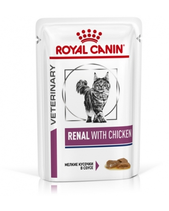 Консервы для кошек Royal Canin (Роял Канин) Ренал цыпленок пауч 85гр