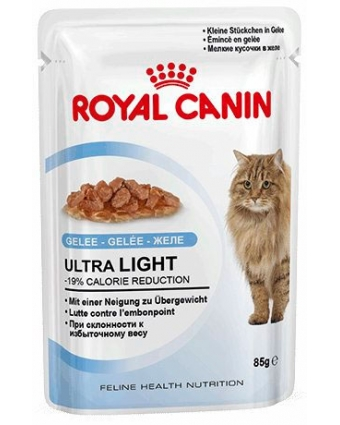 Консервы для  кошек, склонных к полноте Royal Canin (Роял Канин) Ultra Light в желе  0,085кг