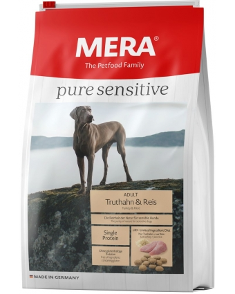 Корм для собак Mera Pure Sensitive Truthahn & Reis (индейка и рис), 12,5кг